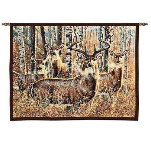 Deer Tapestry Wall Hanging Sudden Encounter