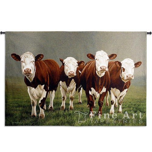 Fab Four Cow Tapestry Wall Hanging
