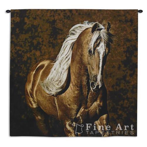 Golden Boy Palomino Horse Tapestry Wall Hanging