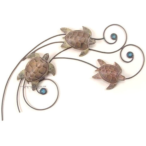 Sea Turtle Wave Wall Sculpture Small