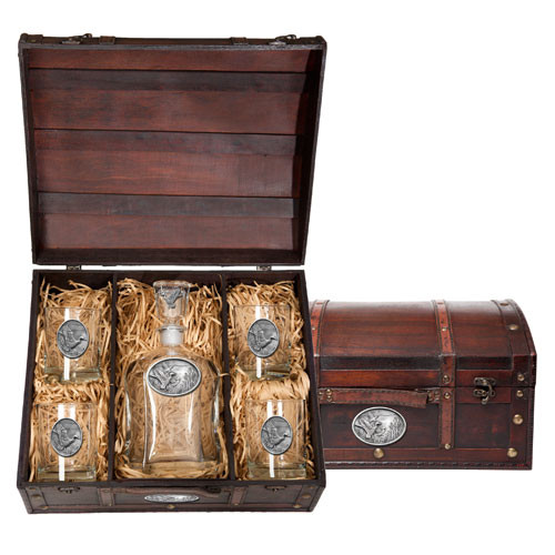 Mallard Capitol Decanter Chest Set