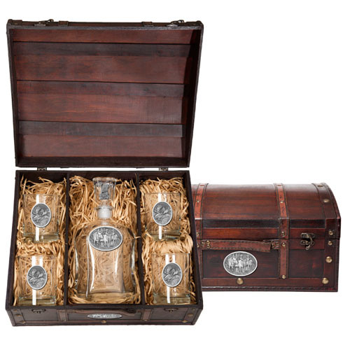 Moose Capitol Decanter Chest Set