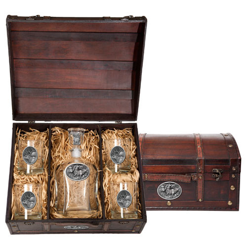 Elk Capitol Decanter Chest Set