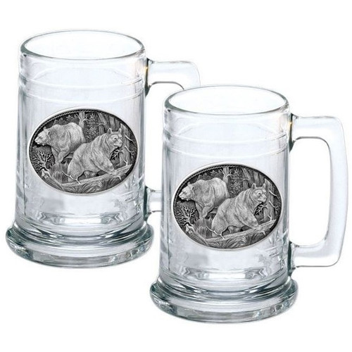 Black Bear Stein Set of 2