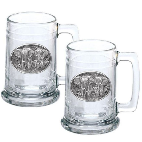Elephant Stein Set of 2