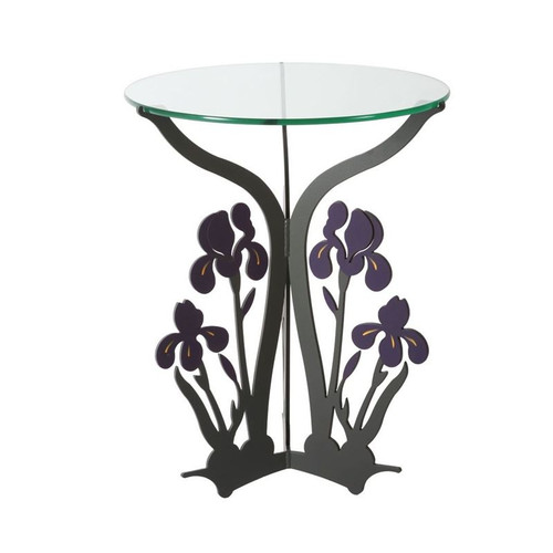 Iris Glass Top Table