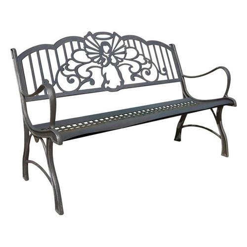 Angel Cast Iron Garden Bench