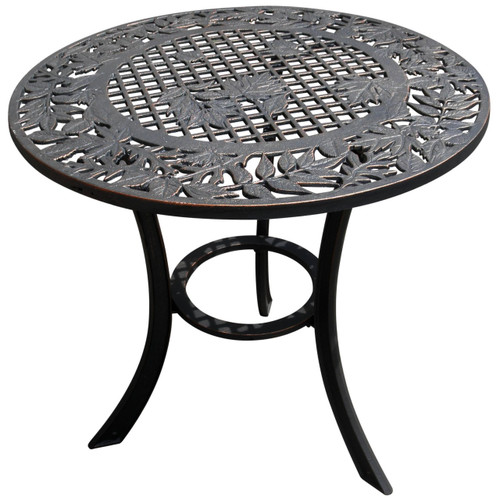 Leaf Design Iron Patio Table