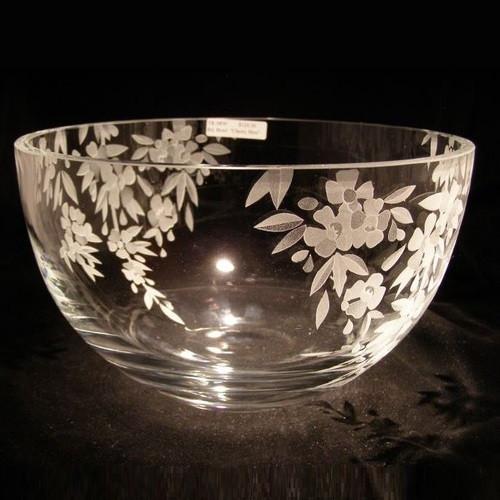 Cherry Blossom Crystal Bowl