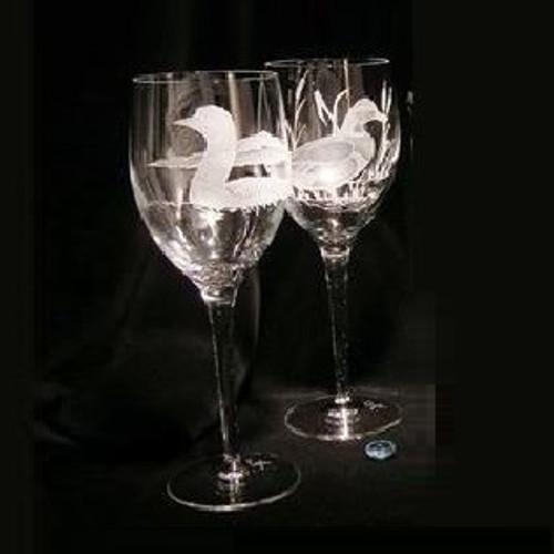 Mallard Crystal 13 oz Wine Glass Set of 2