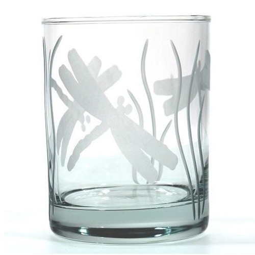 Dragonfly Double Old Fashioned Glass Set of 4