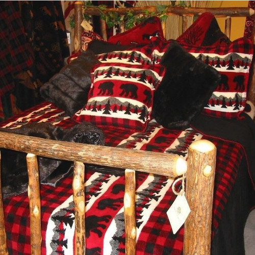 Bear Plaid Twin Bedspread