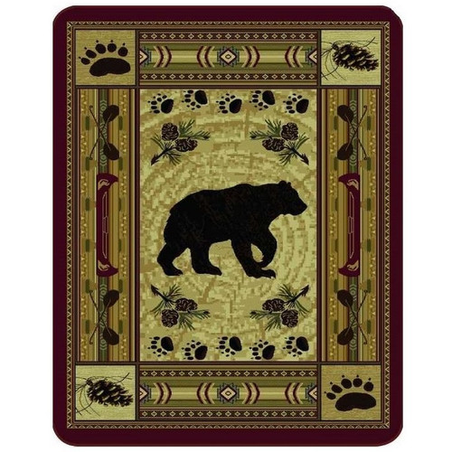Bear Blanket Native Bear Patchwork