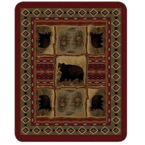 Bear Blanket Rustic Bear Patchwork