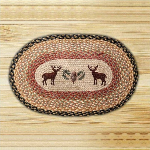 Used Oval Braided Rugs: Horse Oval Braided Rug