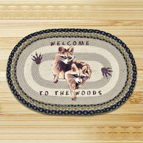 Used Oval Braided Rugs: Baby Bear Oval Patch Braided Rug