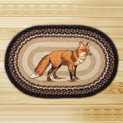 Fox Oval Braided Rug
