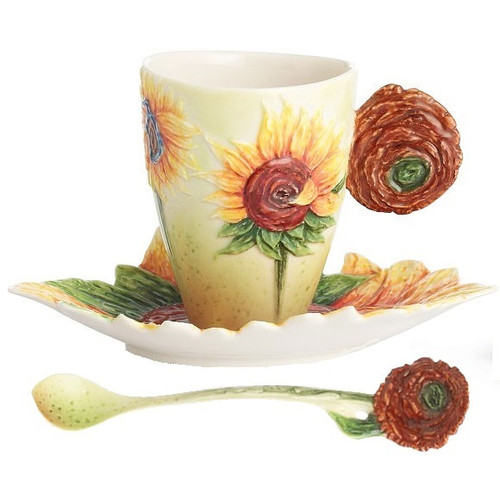 Van Gogh Sunflower Cup Saucer Spoon | FZ02459
