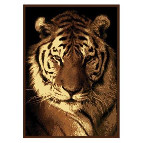Tiger Portrait Area Rug