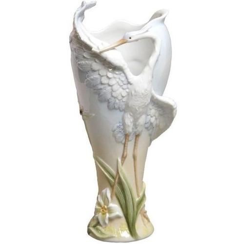 Open-Wing Egret Vase