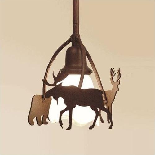 Bear, Moose & Deer Pendant Light