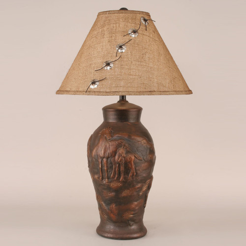Mare and Foal Horse Table Lamp