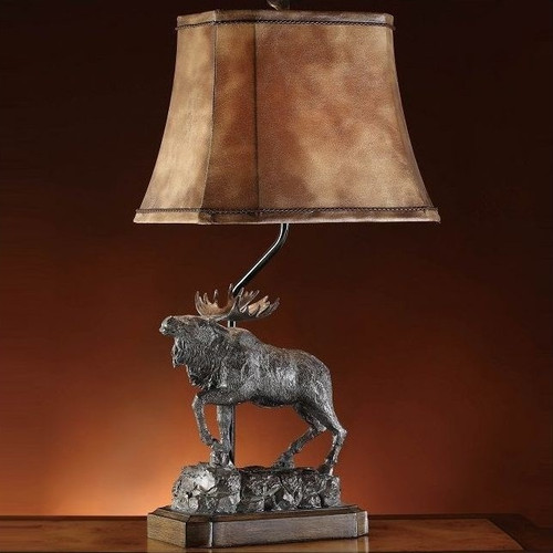 Majestic Moose Table Lamp