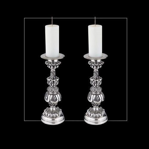 Ornate Silver Plated Candlestick | u17