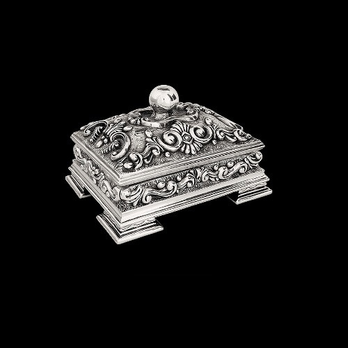 Sterling Silver Plated Jewelry Box   U300