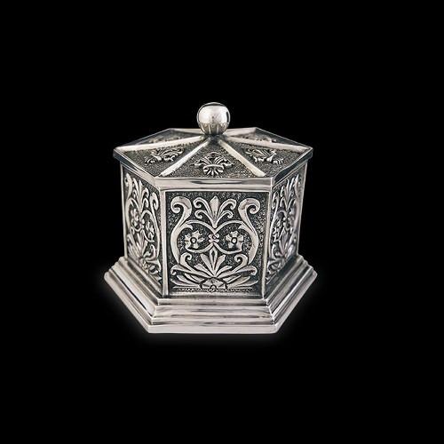 Silver Plated Tall Jewelry Box   U303