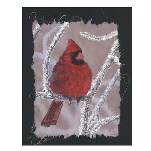 Cardinal on Ice Print