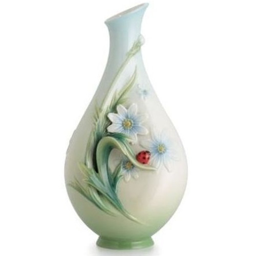 Ladybug Small Porcelain Vase | FZ02629