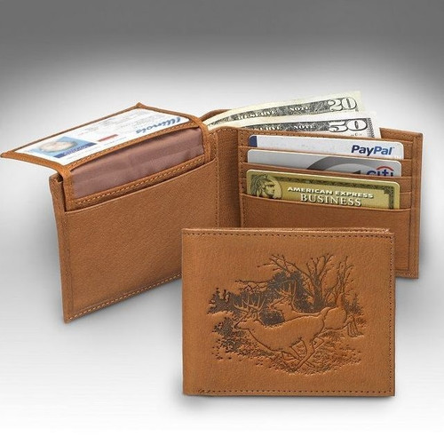 Deer Bucks Bifold Tan Wallet