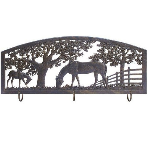 Horse Metal Wall Art Coat Rack