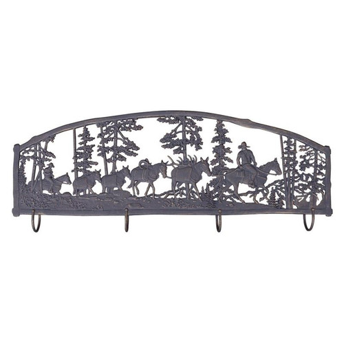 Horse Pack Train Coat Rack