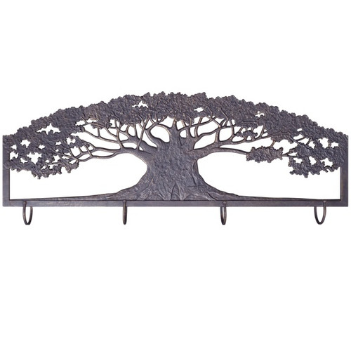 Tree Metal Wall Art Coat Rack