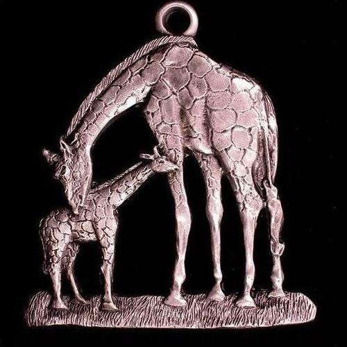 Giraffe Pewter Ornament