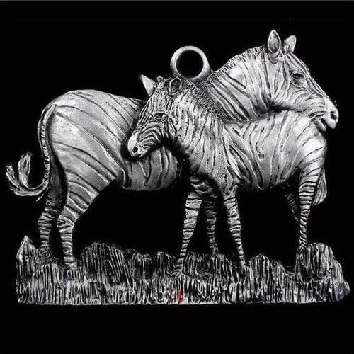 Zebra Pewter Ornament