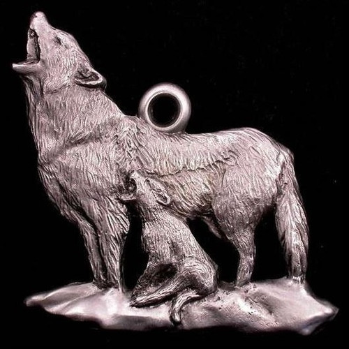 Wolf Pewter Ornament