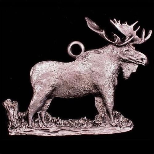 Moose Pewter Ornament