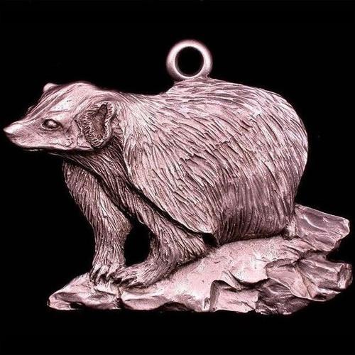 Badger Pewter Ornament