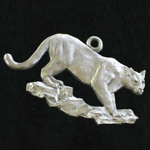 Cougar Pewter Ornament
