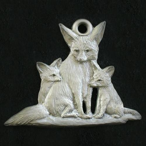 Fox Pewter Ornament