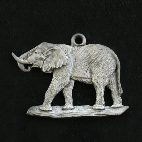 Elephant Pewter Ornament