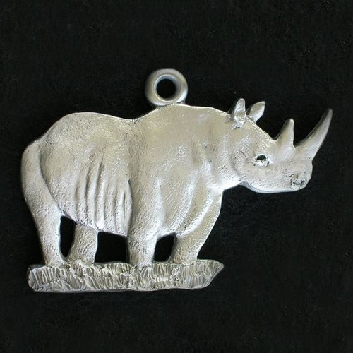Rhino Pewter Ornament