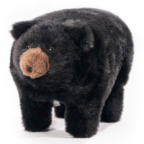 "Black Bear Footstool ""Midnite"""