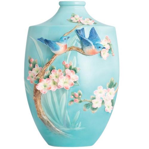 Bluebird on Apple Tree Vase | FZ02852