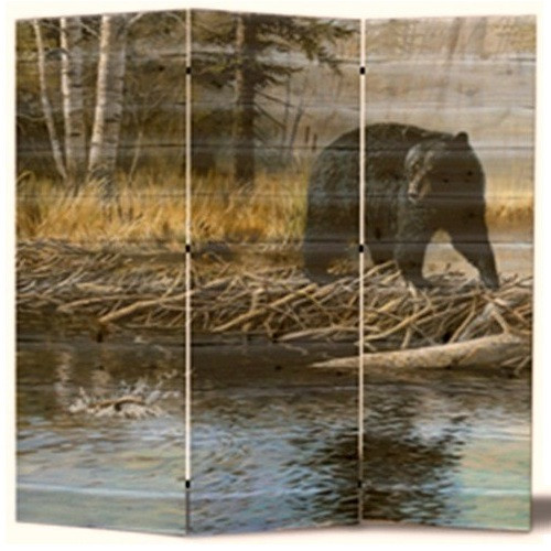"Bear Cedar Room Divider ""Streamside"""