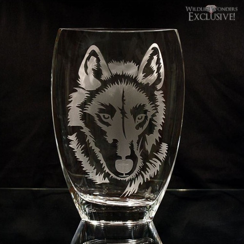 Wolf Art Glass Vase