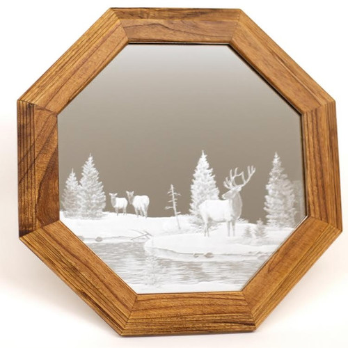 "Elk Oak Mirror ""Rock Creek Crossing"""